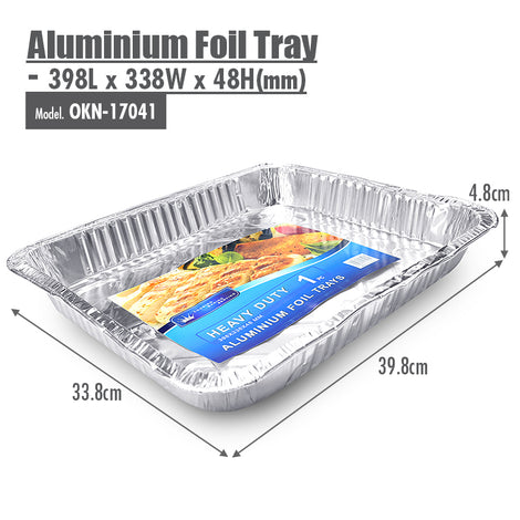 Aluminium Foil Tray - 398x338x48mm - HOUZE - The Homeware Superstore