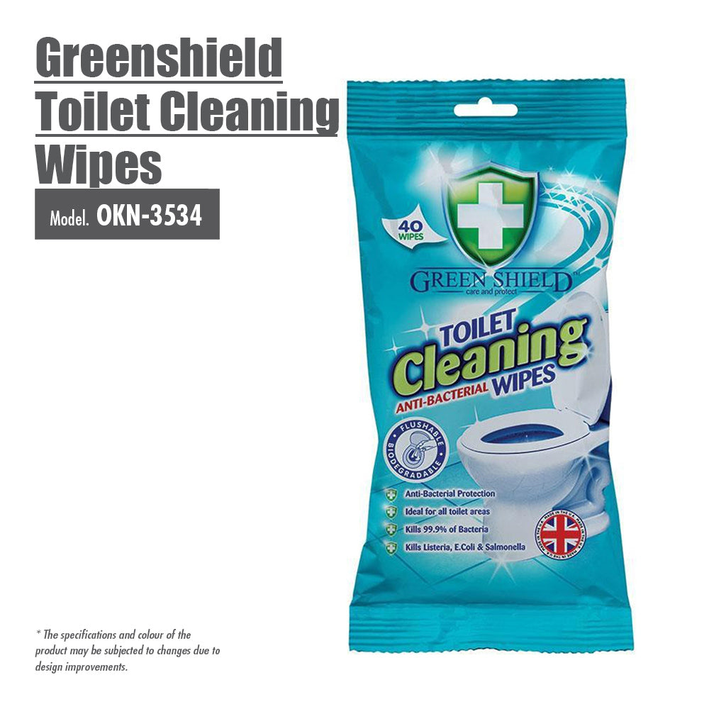 Greenshield Toilet Cleaning Wipes - HOUZE - The Homeware Superstore