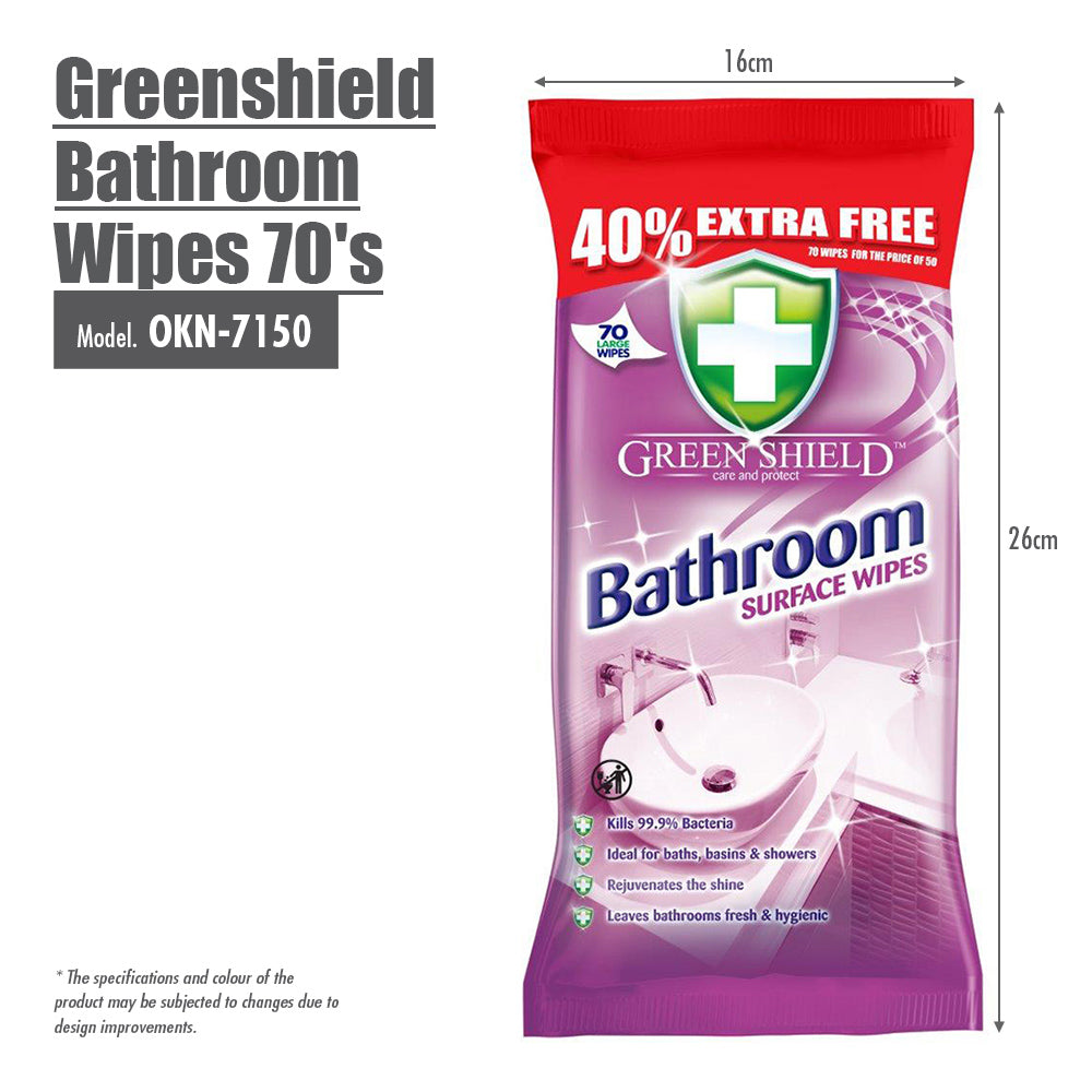 Greenshield Bathroom Wipes 70's - HOUZE - The Homeware Superstore