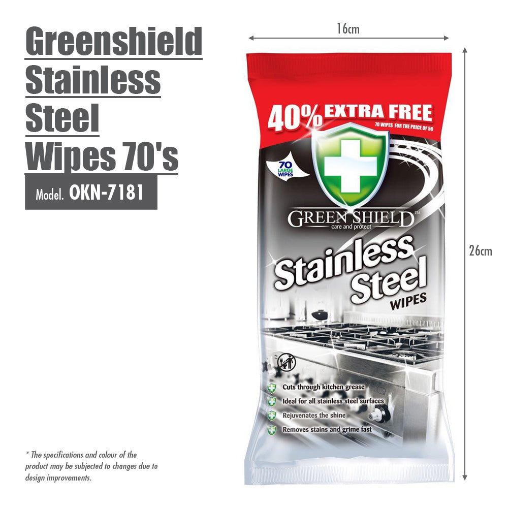 Greenshield Stainless Steel Wipes 70's