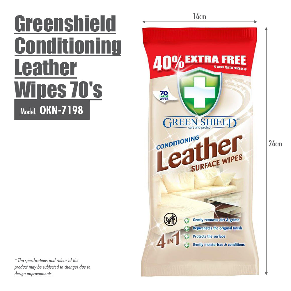 Greenshield Conditioning Leather Wipes 70's