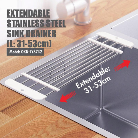 Extendable Stainless Steel Sink Drainer