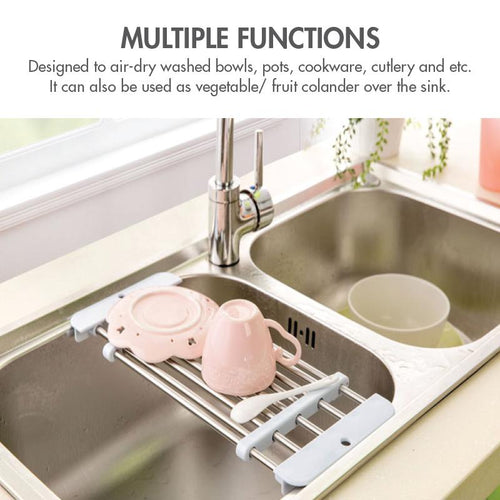 Extendable Stainless Steel Sink Drainer - HOUZE - The Homeware Superstore