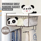 Overhead Shelf Hanging Basket - Coffee (Dim: 28x26x20cm) - HOUZE - The Homeware Superstore