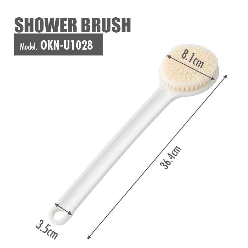 Shower Brush - Length: 37cm (White) - HOUZE - The Homeware Superstore