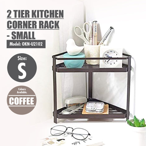 2 Tier Kitchen Corner Rack - Small - HOUZE - The Homeware Superstore