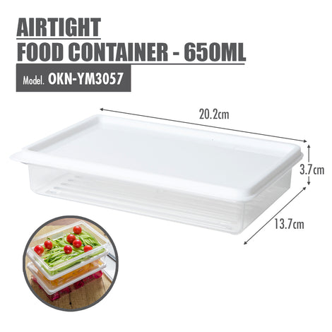 Airtight Food Container - 650ml - HOUZE - The Homeware Superstore