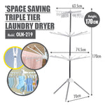 Space Saving Triple Tier Stainless Steel Laundry Dryer