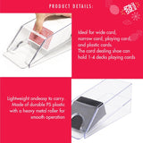 1-4 Deck PS Plastic Clarity Card Shoe