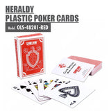 Gameland Black Core Paper Poker Playing Cards (Red) - HOUZE - The Homeware Superstore