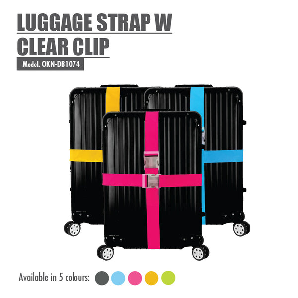 Luggage Strap with Clear Clip (Blue) - HOUZE - The Homeware Superstore