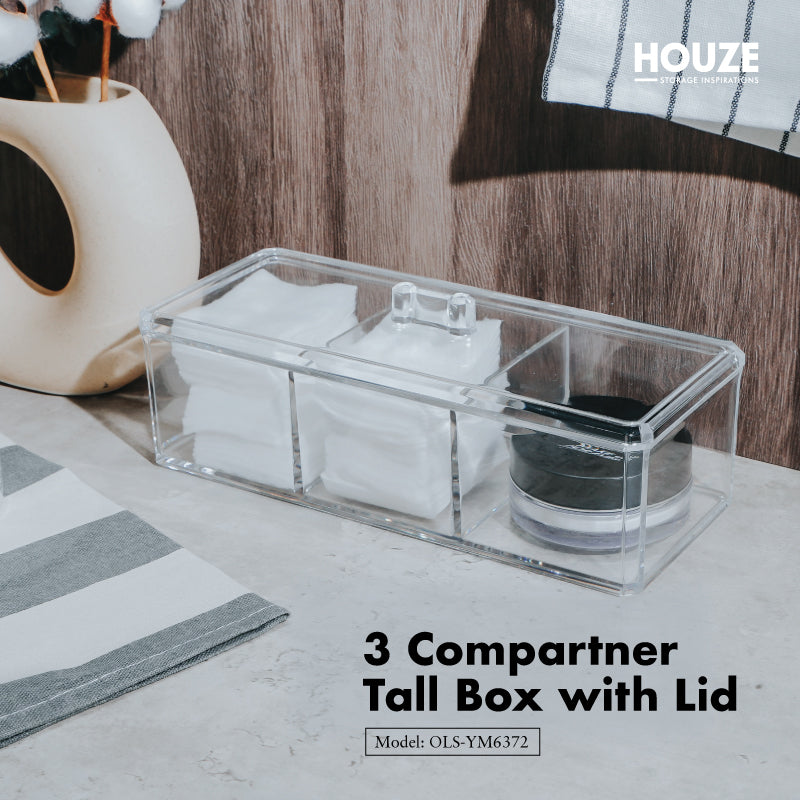 3 Compartment Tall Box With Lid
