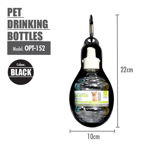 Pet Drinking Bottles ( Black ) - HOUZE