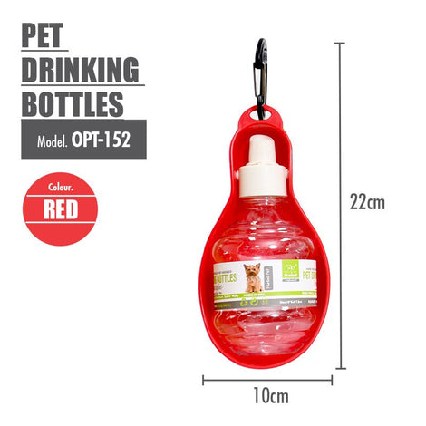 Pet Drinking Bottles ( Red ) - HOUZE