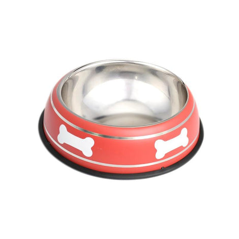 Pet Steel Bowl (18CM) - Red - HOUZE
