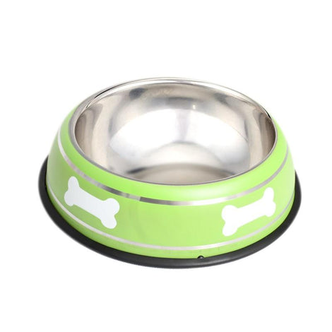Pet Steel Bowl (22CM) - Green - HOUZE