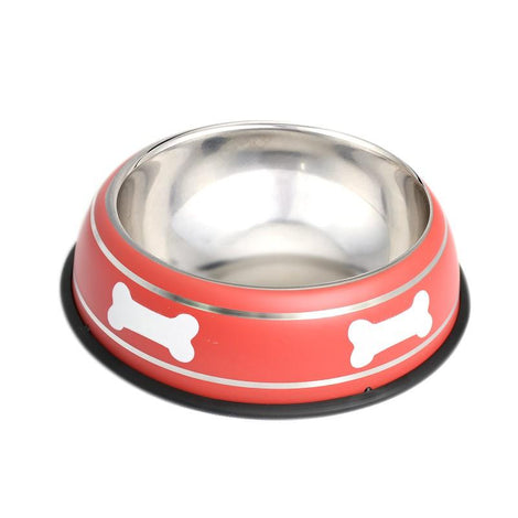 Pet Steel Bowl (22CM) - Red - HOUZE