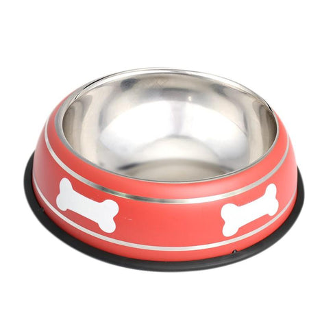 Pet Steel Bowl (26CM) - Red - HOUZE