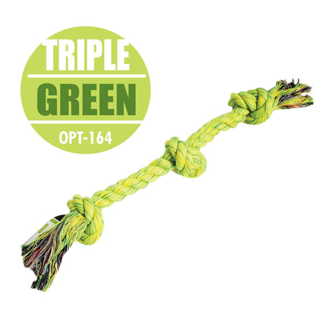 Pet Toy Triple Knotted Bone (Green) - HOUZE - The Homeware Superstore
