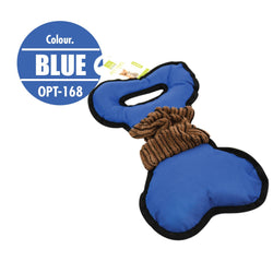 Pet Toy Tug Bone (Blue) - HOUZE - The Homeware Superstore
