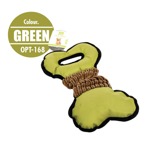 Pet Toy Tug Bone (Green) - HOUZE - The Homeware Superstore