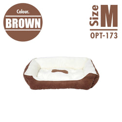 Pet Cushion Bedding - Brown (Medium) - HOUZE - The Homeware Superstore