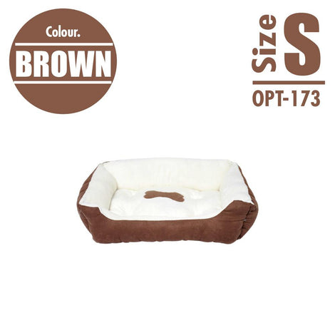Pet Cushion Bedding - Brown (Small) - HOUZE - The Homeware Superstore