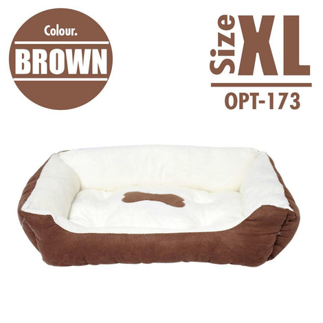 Pet Cushion Bedding - Brown (X-Large) - HOUZE - The Homeware Superstore