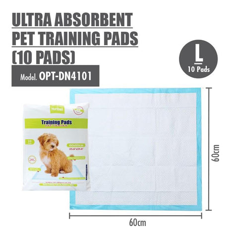 Large Size Ultra Absorbent Pet Training Pads 60x60cm (10pcs) - HOUZE