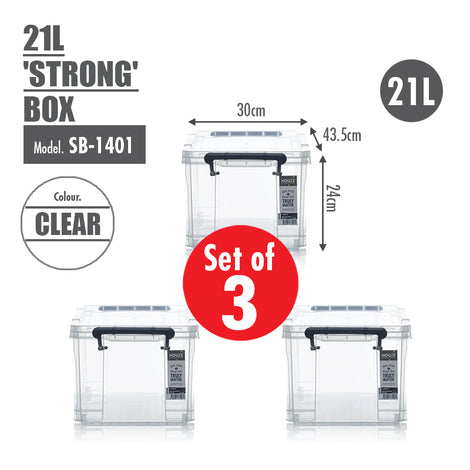 [SET OF 3] HOUZE 21L 'STRONG' Box - HOUZE - The Homeware Superstore