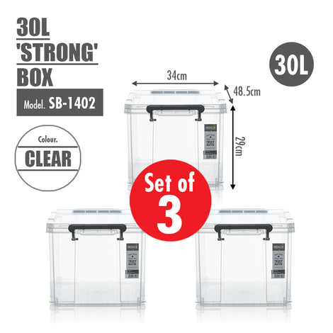 [Set of 3] HOUZE 30L 'STRONG' Box - HOUZE - The Homeware Superstore