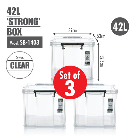 [SET OF 3] HOUZE 42L 'STRONG' Box - HOUZE - The Homeware Superstore