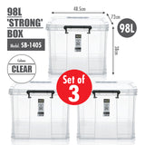[SET OF 3] HOUZE 98L 'STRONG' Box - HOUZE - The Homeware Superstore
