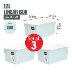 [SET OF 3] HOUZE 12L Linear Box - HOUZE - The Homeware Superstore