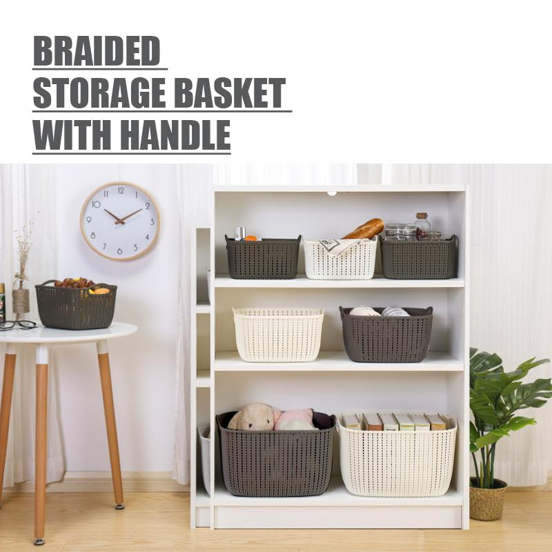HOUZE Braided Storage Basket with Handle (Large) - HOUZE - The Homeware Superstore