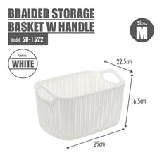 HOUZE Braided Storage Basket with Handle (Medium)