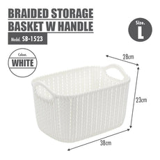 HOUZE Braided Storage Basket with Handle (Large)