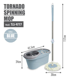 Tornado Spinning Mop (Blue) - HOUZE - The Homeware Superstore