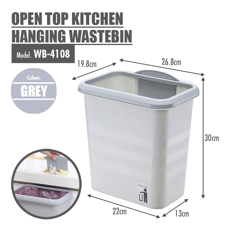 HOUZE - Open Top Kitchen Hanging Wastebin