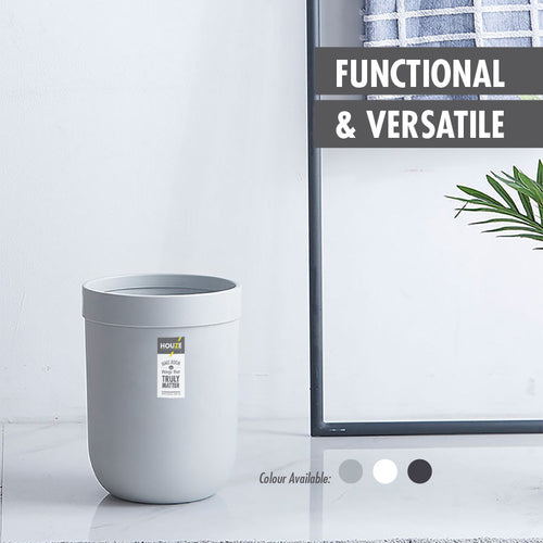 HOUZE - 8L Waterproof Design Open Top Wastebin (Grey) - HOUZE - The Homeware Superstore