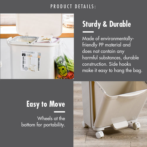 Double Tier Recycle Bin with Wheels and Pedal - HOUZE - The Homeware Superstore