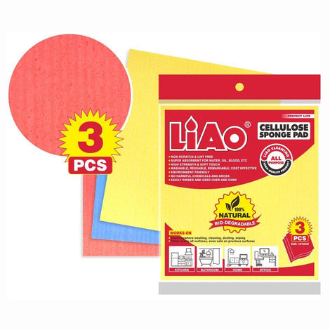 LIAO Cellulose Sponge Pad (Pack of 3) - HOUZE - The Homeware Superstore