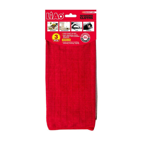 Cleaning Necessities - Liao Microfiber Cloths (Pack Of 3)
