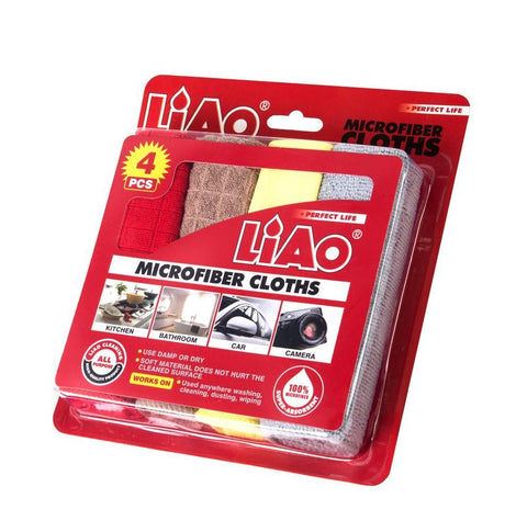 LIAO Microfiber Cloths (Pack of 4) - HOUZE - The Homeware Superstore