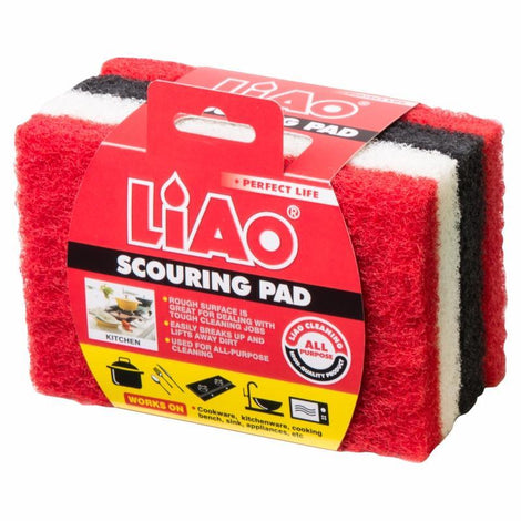 Cleaning Necessities - Liao Scouring Pad (Pack Of 4)