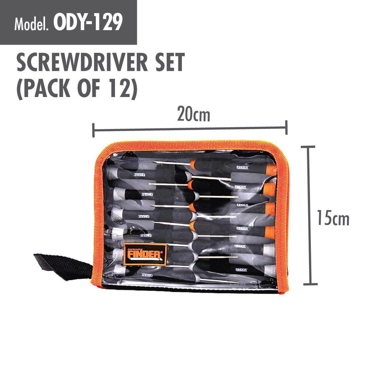 Screwdriver Set (Pack of 12) - HOUZE - The Homeware Superstore