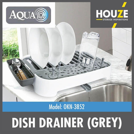 Picnic Dish Drainer (Grey) - HOUZE - The Homeware Superstore