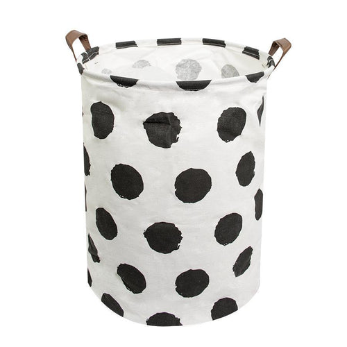 HOUZE - Laundry Bag (Large) - Black Dots - HOUZE - The Homeware Superstore