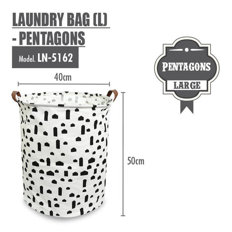 Laundry Necessities - HOUZE Laundry Bag (Large) - Pentagons