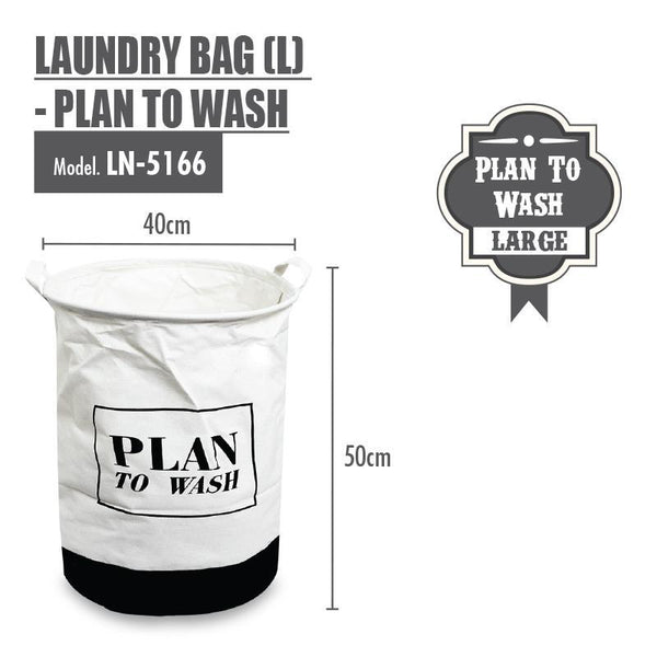 HOUZE Laundry Bag (Large) - Plan To Wash - HOUZE - The Homeware Superstore